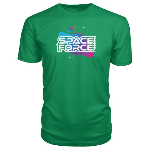 Image of Space Force Premium Tee - Green Apple / S / Premium Unisex Tee - Short Sleeves