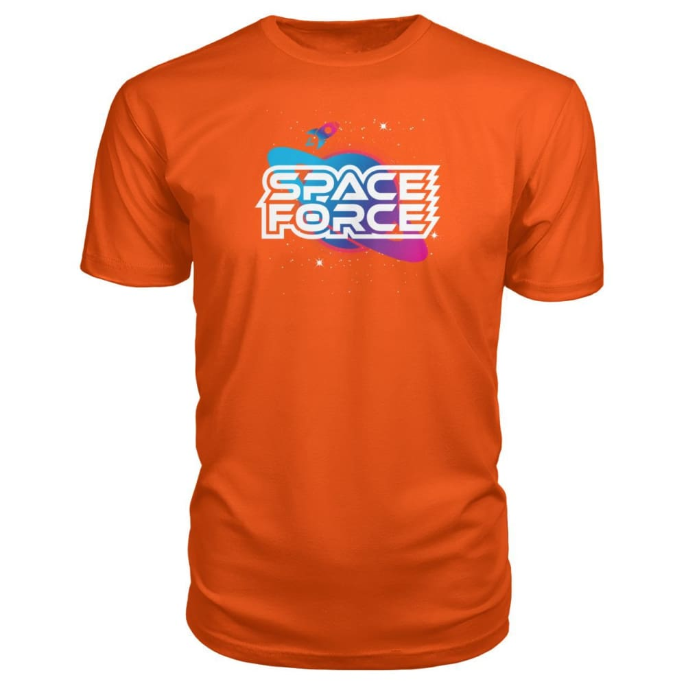 Space Force Premium Tee - Orange / S / Premium Unisex Tee - Short Sleeves