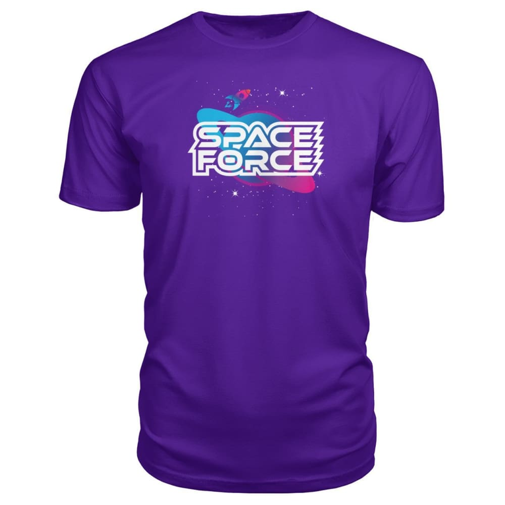 Space Force Premium Tee - Purple / S / Premium Unisex Tee - Short Sleeves