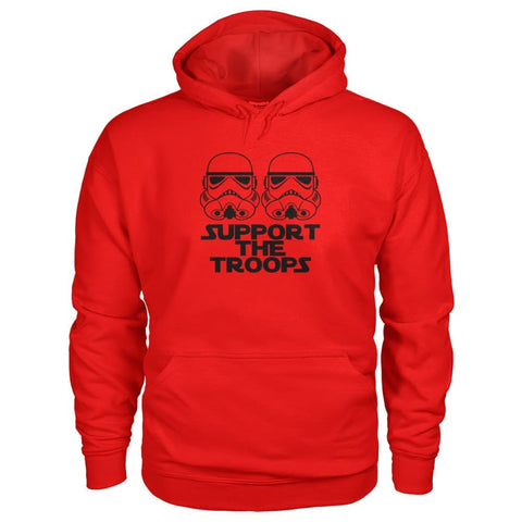 Image of Support The Troops Hoodie - Red / S - Hoodies