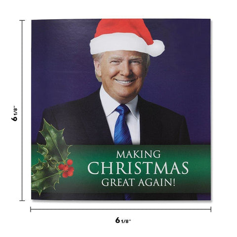 Image of Talking Trump Christmas Card - Wishes You A Merry Christmas In Donald Trumps REAL Voice