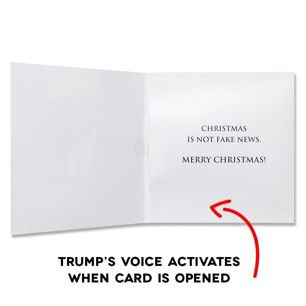 Talking Trump Christmas Card - Wishes You A Merry Christmas In Donald Trumps REAL Voice