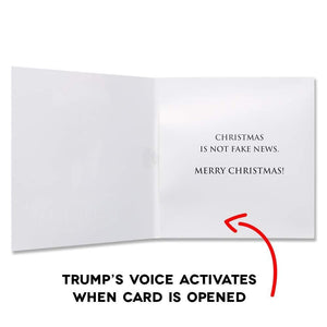 Talking Trump Christmas Card - Wishes You A Merry Christmas In Donald Trump's REAL Voice (Design 2)