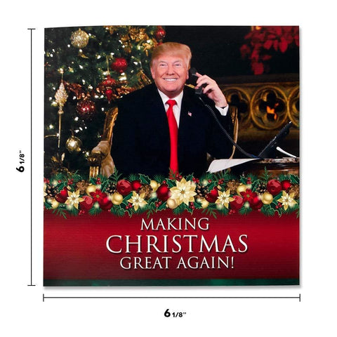 Talking Trump Christmas Card - Wishes You A Merry Christmas In Donald Trumps REAL Voice (Design 2)