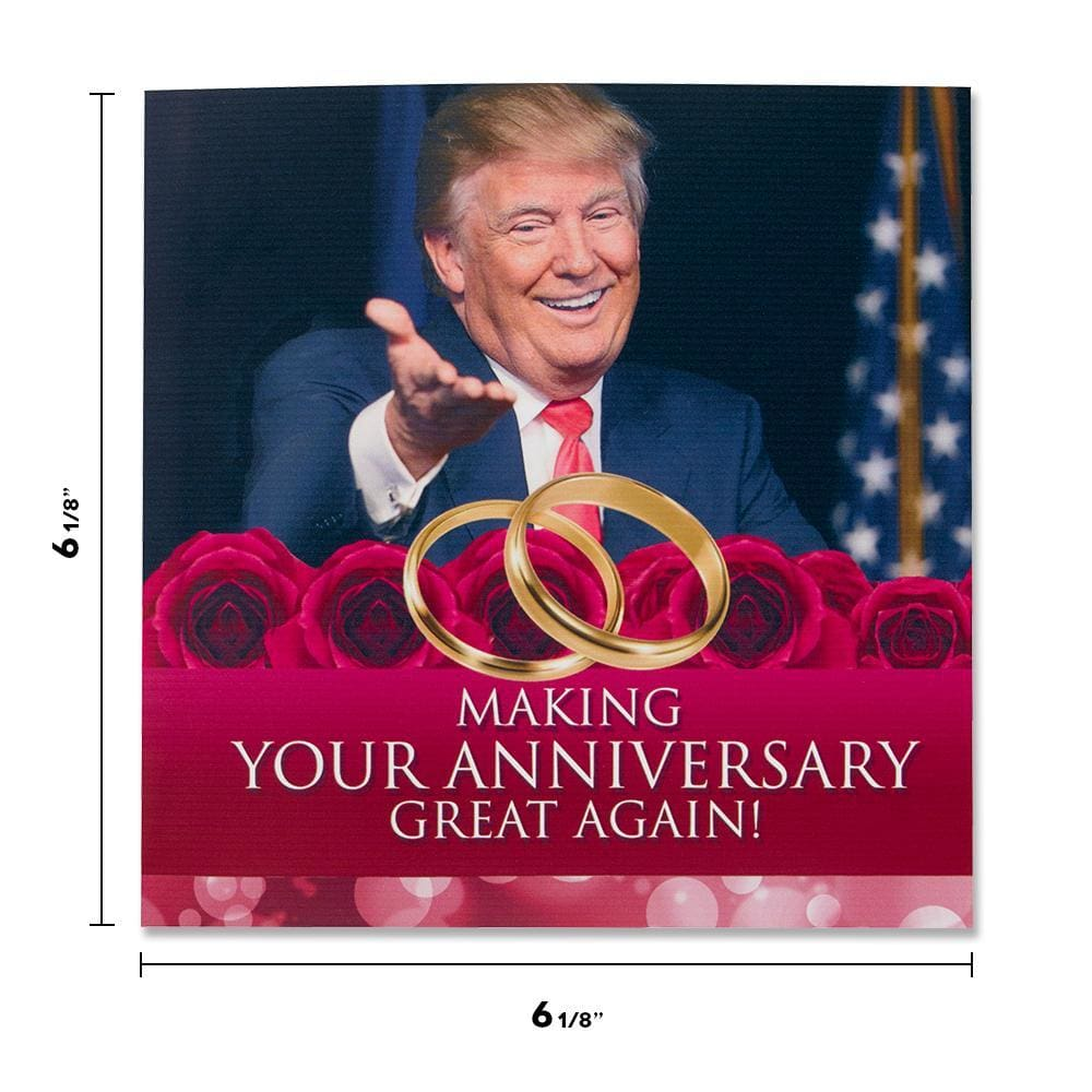 Talking Trump Happy Anniversary Card - Wishes You A Happy Anniversary In Donald Trumps REAL Voice