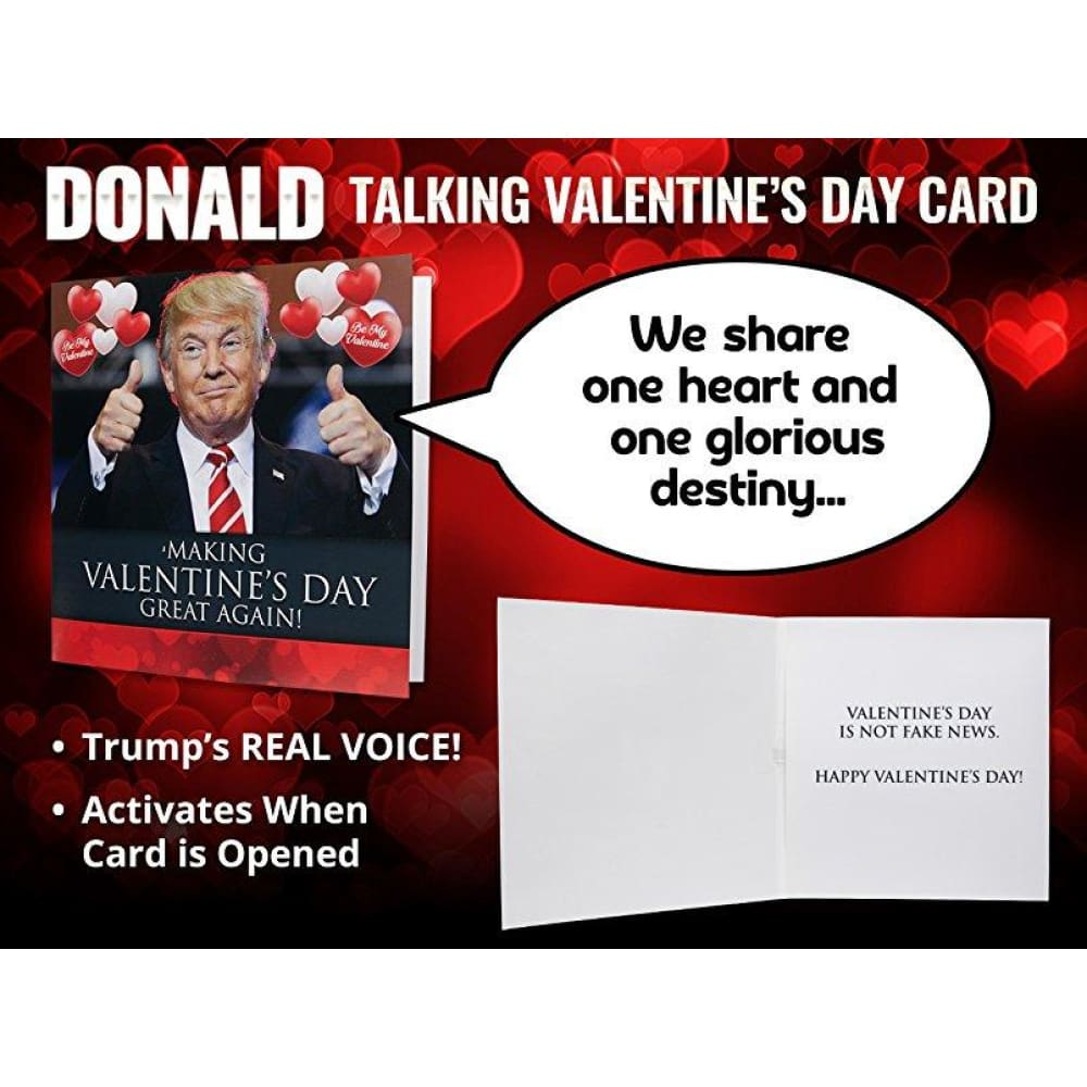 Talking Trump Valentines Day Card - Surprise Someone With A Personal Valentine Greeting From The President