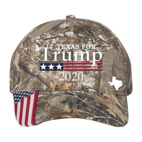 Image of Texas For Trump 2020 Hat - Realtree Edge
