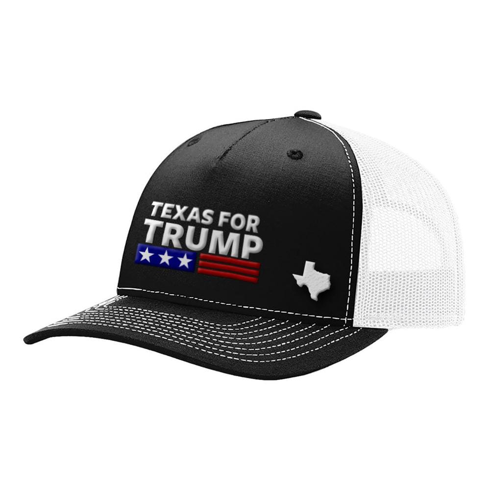 Texas For Trump - Black & White - Hats