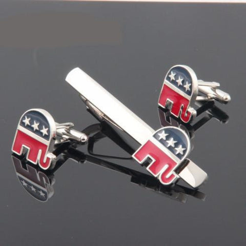 Tie Bar: Republican Party Elephant
