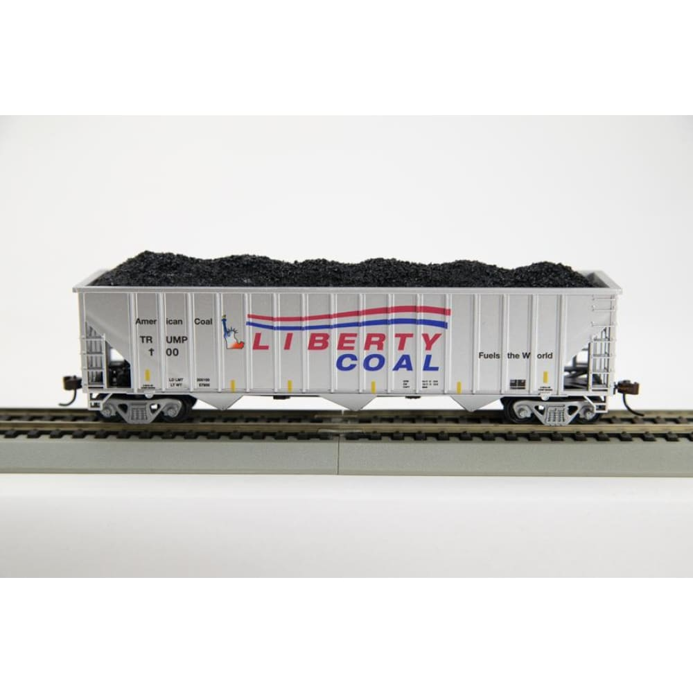 Trump 100 Day Hopper Liberty Coal Toy Train Piece (CHOOSE YOUR SCALE AND TRACK)