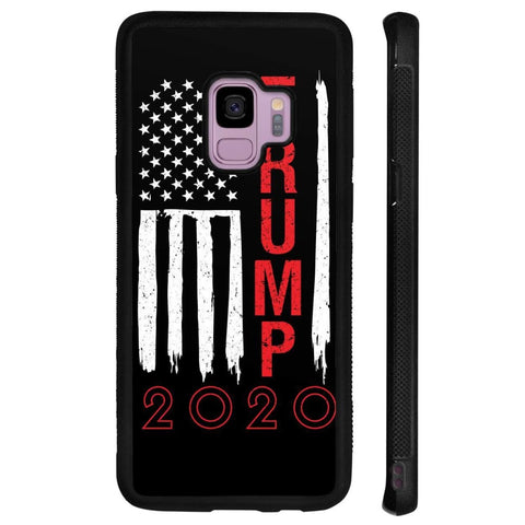 Image of Trump 2020 Flag Phone Cases - Black / M / Samsung Galaxy S9 - Phone Cases
