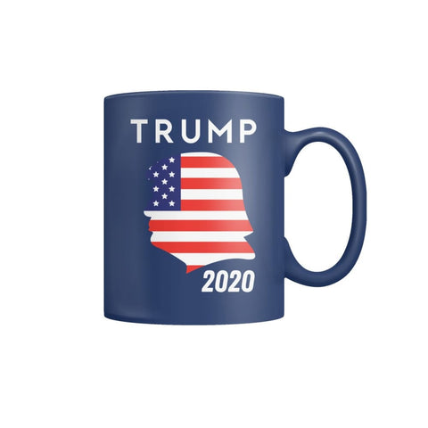 Trump 2020 Silhouette Coffee Mugs - Black / M / Color Coffee Mug - Drinkware