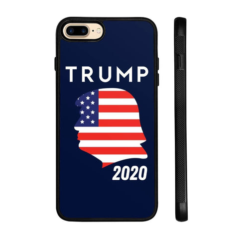 Trump 2020 Silhouette Phone Cases - Navy / M / iPhone 8+ Case - Phone Cases