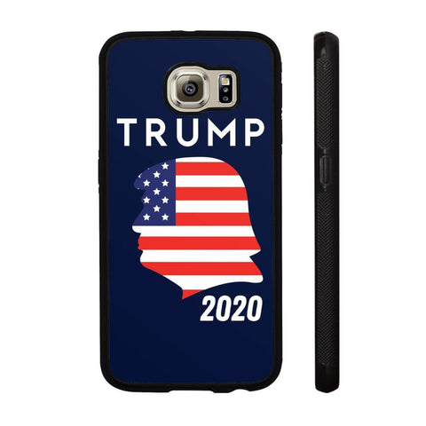 Trump 2020 Silhouette Phone Cases - Navy / M / Samsung Galaxy S6 - Phone Cases