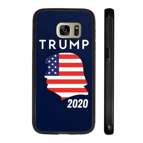 Trump 2020 Silhouette Phone Cases - Navy / M / Samsung Galaxy S7 - Phone Cases