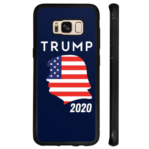 Trump 2020 Silhouette Phone Cases - Navy / M / Samsung Galaxy S8 - Phone Cases