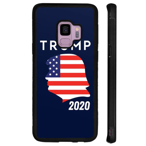 Trump 2020 Silhouette Phone Cases - Navy / M / Samsung Galaxy S9 - Phone Cases