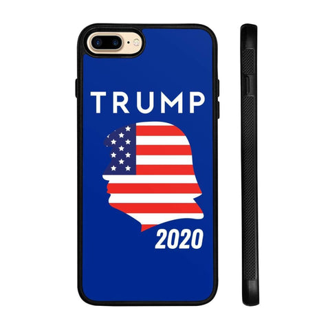 Trump 2020 Silhouette Phone Cases - Royal / M / iPhone 8+ Case - Phone Cases