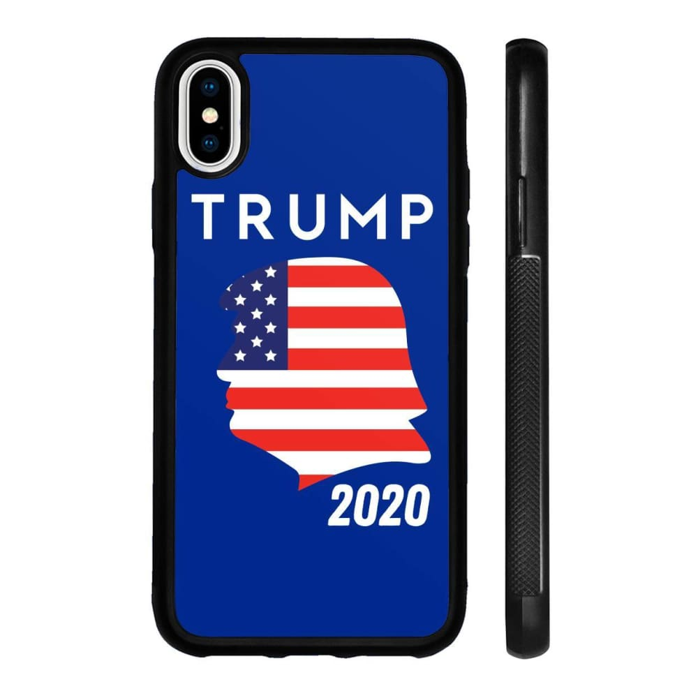 Trump 2020 Silhouette Phone Cases - Royal / M / iPhone X Case - Phone Cases