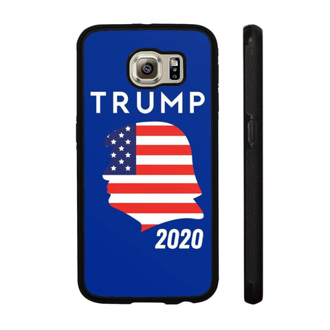 Trump 2020 Silhouette Phone Cases - Royal / M / Samsung Galaxy S6 - Phone Cases