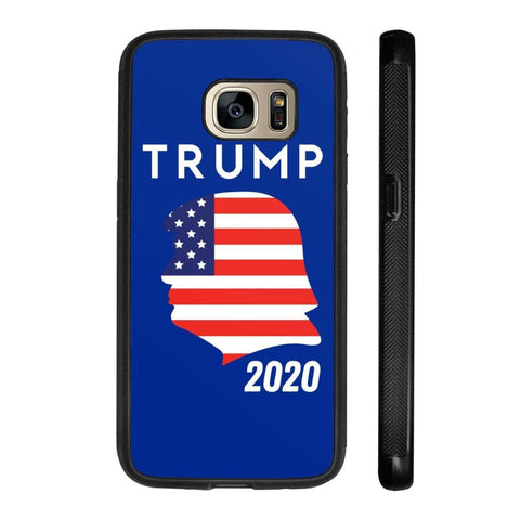 Trump 2020 Silhouette Phone Cases - Royal / M / Samsung Galaxy S7 - Phone Cases