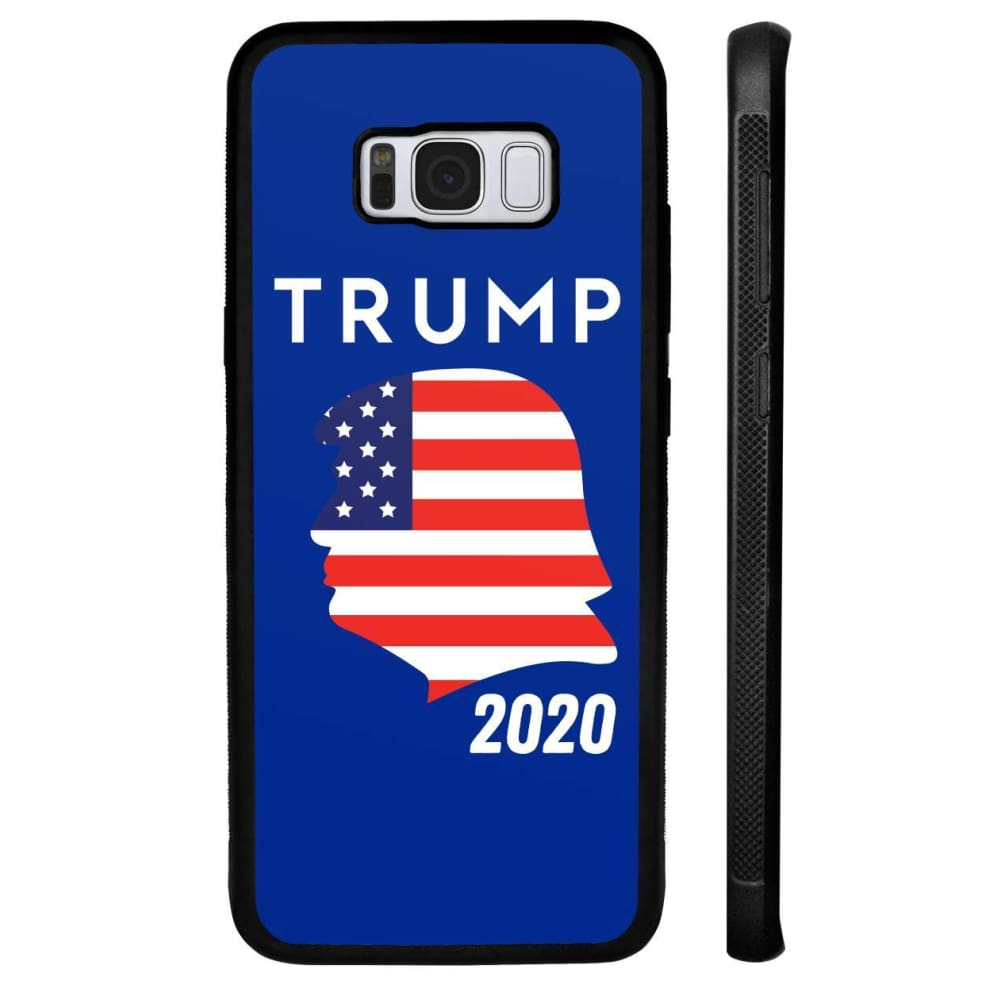 Trump 2020 Silhouette Phone Cases - Royal / M / Samsung Galaxy S8 Plus - Phone Cases