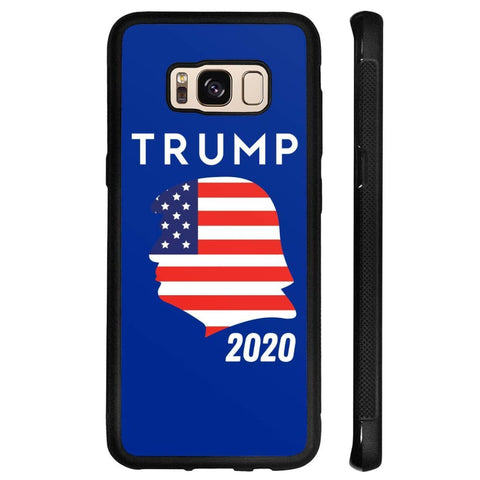 Trump 2020 Silhouette Phone Cases - Royal / M / Samsung Galaxy S8 - Phone Cases