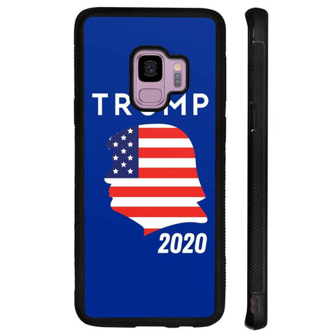 Trump 2020 Silhouette Phone Cases - Royal / M / Samsung Galaxy S9 - Phone Cases