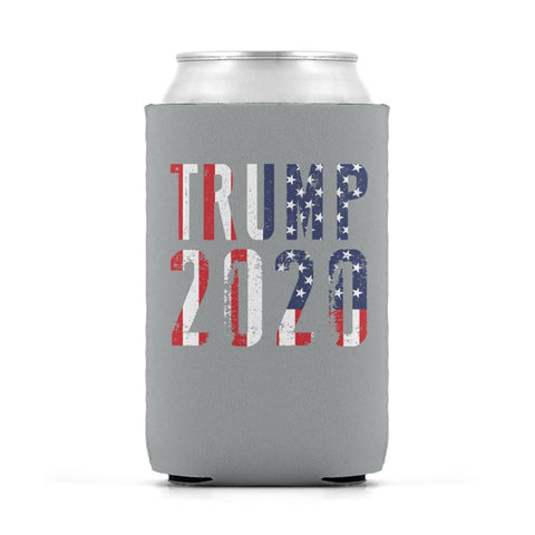 Trump 2020 Stars & Stripes - Can Cooler - Sport Grey / Can Sleeve - Drinkware