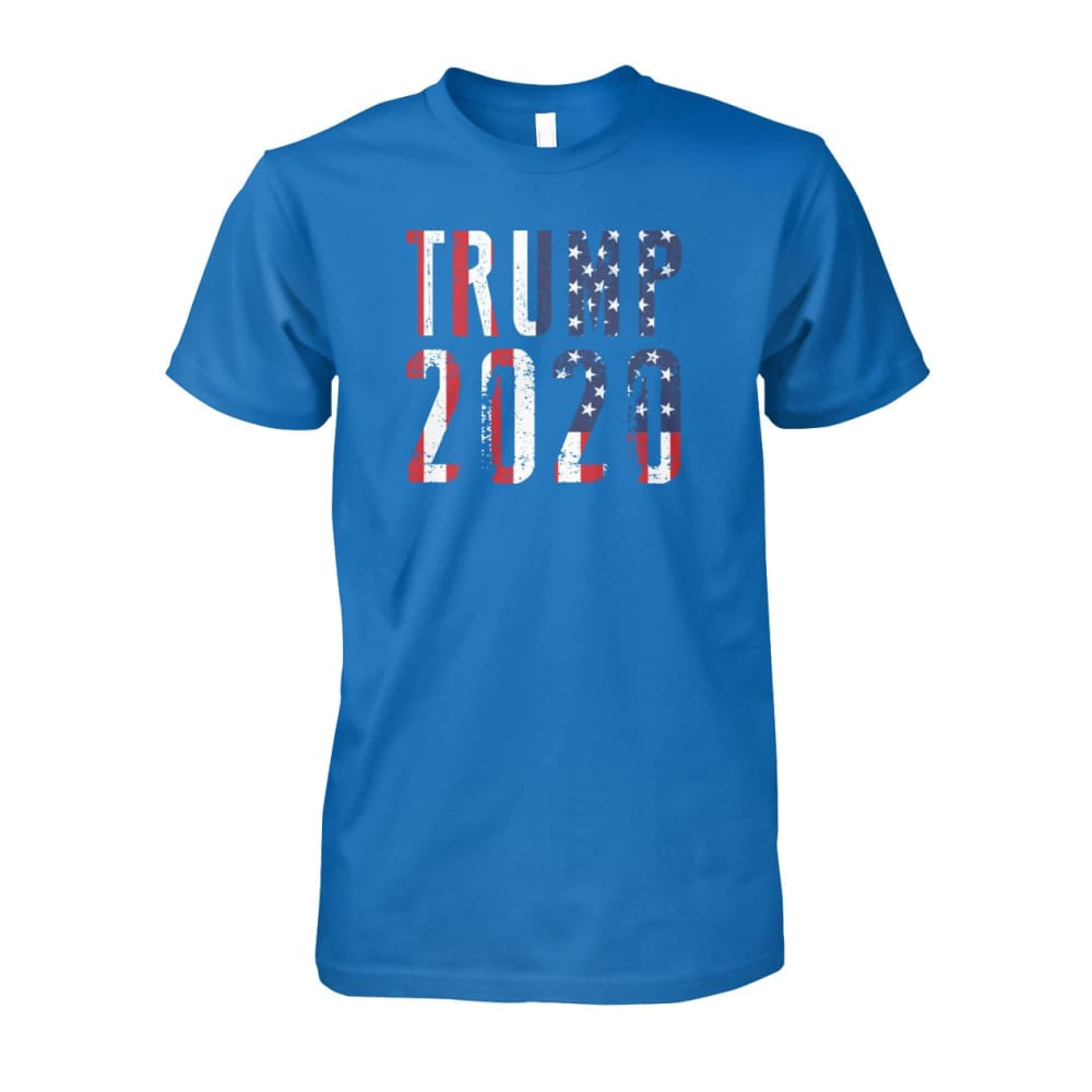Trump 2020 Stars & Stripes - Short Sleeve - Sapphire / S / Unisex Cotton Tee - Short Sleeves
