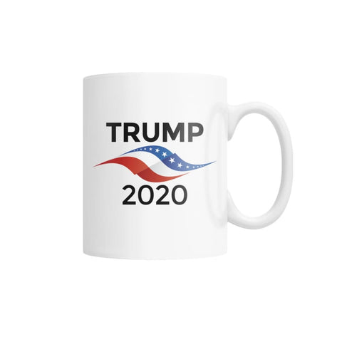 Trump 2020 White Coffee Mug (White) - White / M - Drinkware