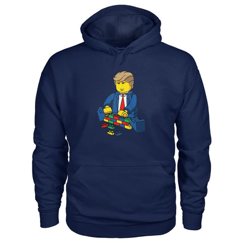 Image of Trump Building Wall Hoodie - Navy / S - Hoodies