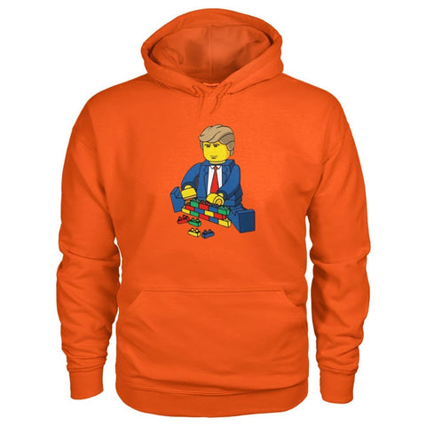 Trump Building Wall Hoodie - Orange / S - Hoodies