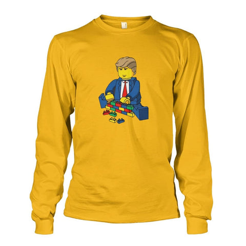 Trump Building Wall Long Sleeve - Gold / S - Long Sleeves