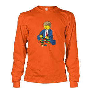 Trump Building Wall Long Sleeve - Orange / S - Long Sleeves