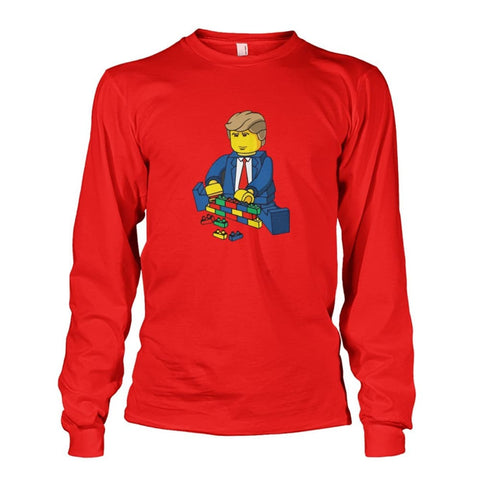 Trump Building Wall Long Sleeve - Red / S - Long Sleeves