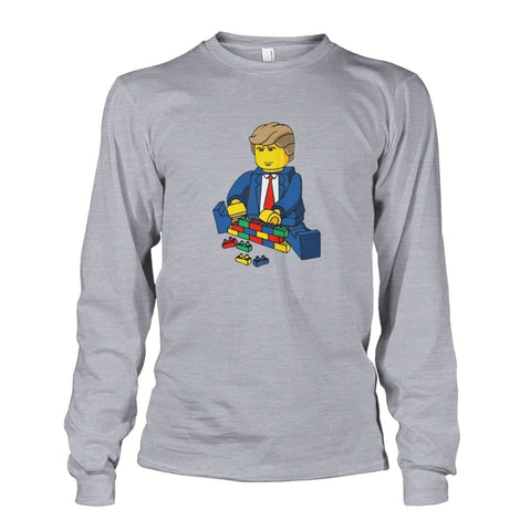 Trump Building Wall Long Sleeve - Sports Grey / S - Long Sleeves