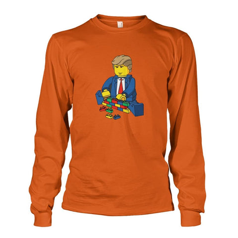 Trump Building Wall Long Sleeve - Texas Orange / S - Long Sleeves