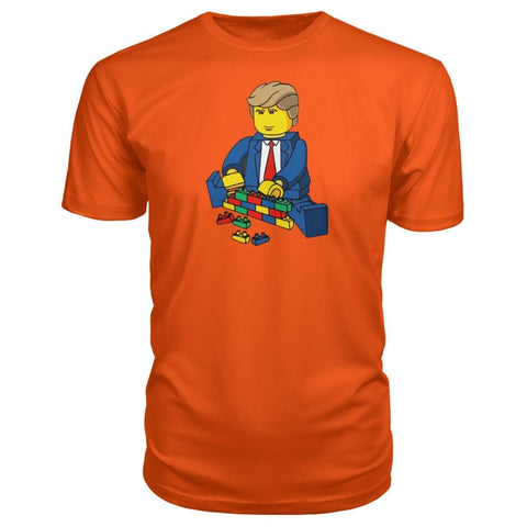 Trump Building Wall Premium Tee - Orange / S - Short Sleeves
