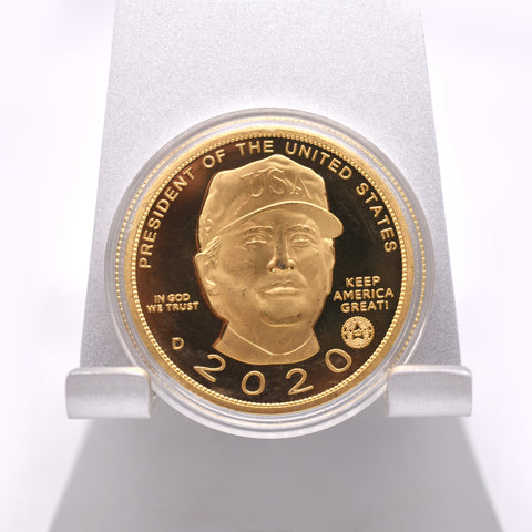 Image of Trump With Hat 2020 Gold Coin