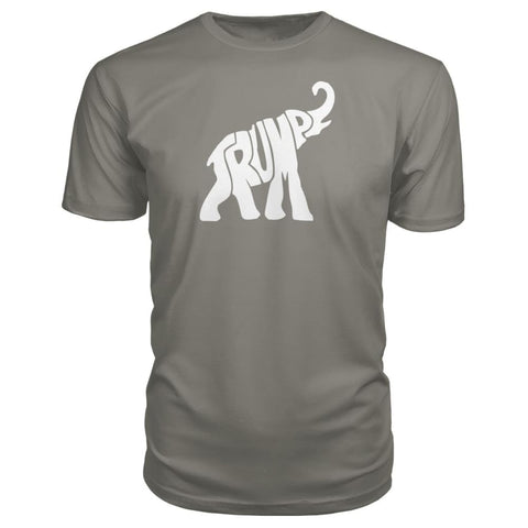 Image of Trump Elephant Premium Tee - Charcoal / S - Short Sleeves