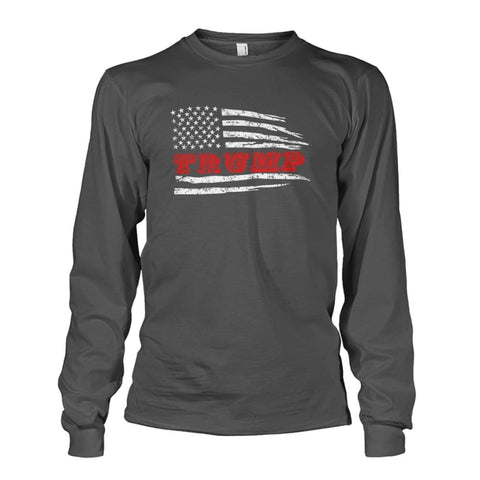 Image of Trump Flag Long Sleeve - Charcoal / S - Long Sleeves