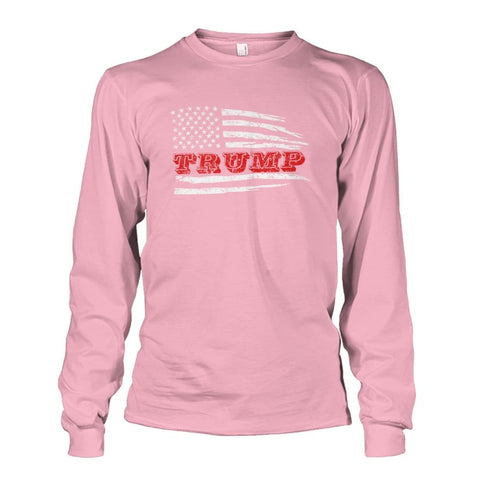 Image of Trump Flag Long Sleeve - Light Pink / S - Long Sleeves