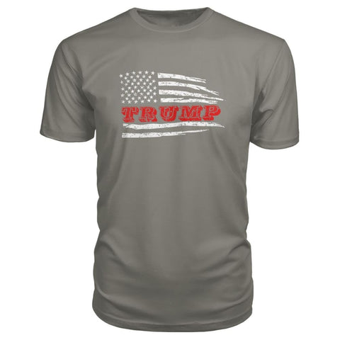 Image of Trump Flag Premium Tee - Charcoal / S - Short Sleeves
