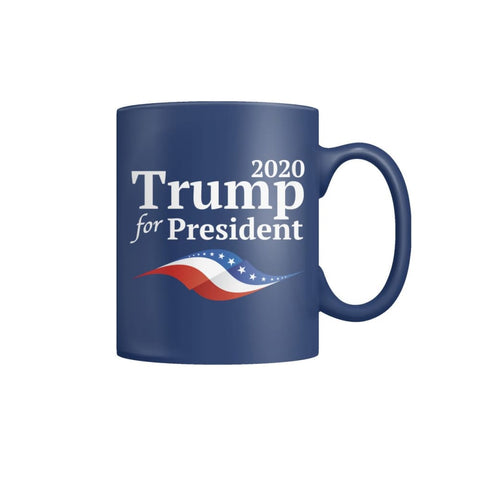 Image of Trump For President Coffee Mug (Blue) - Blue / M - Drinkware