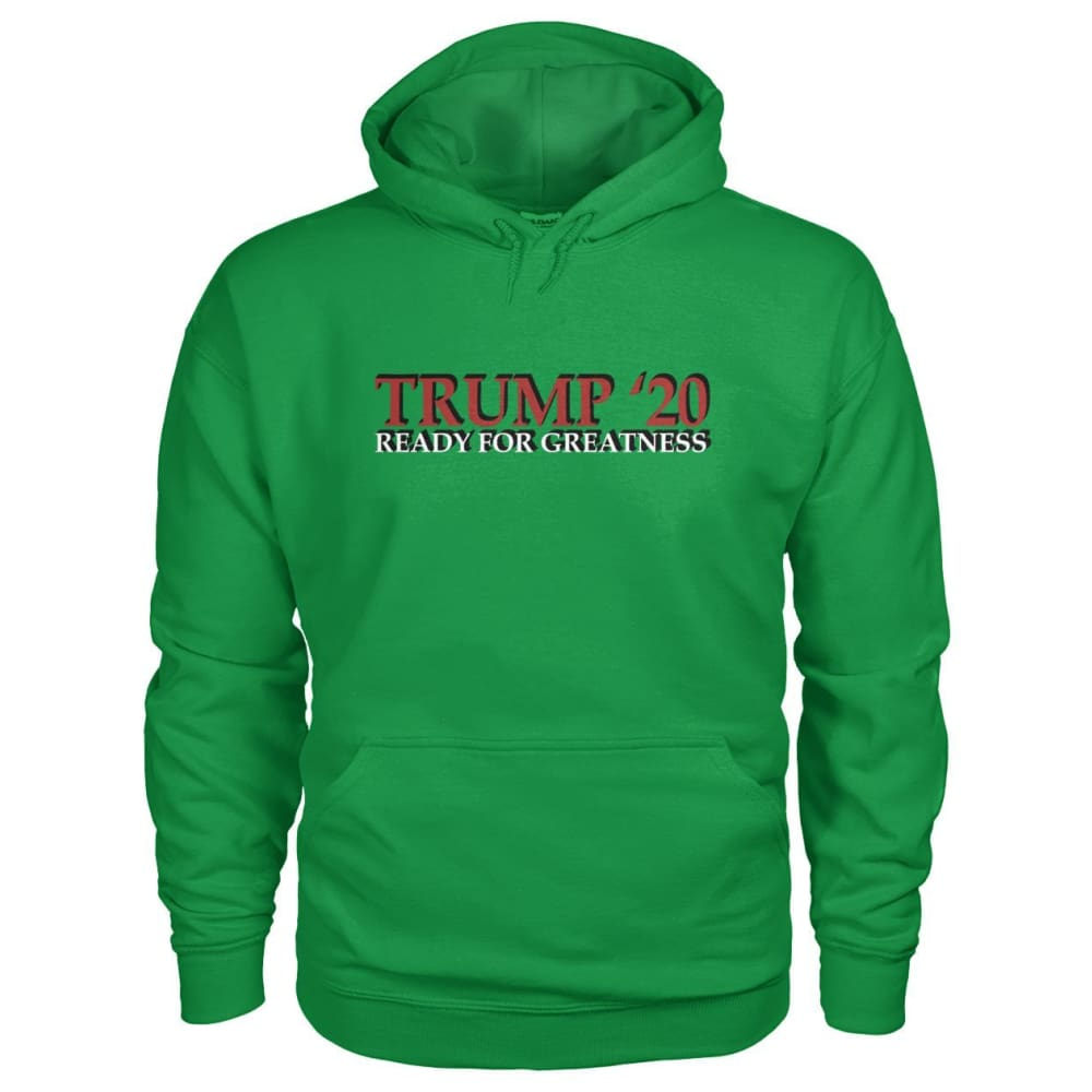 Trump Greatness 2020 Hoodie - Irish Green / S - Hoodies