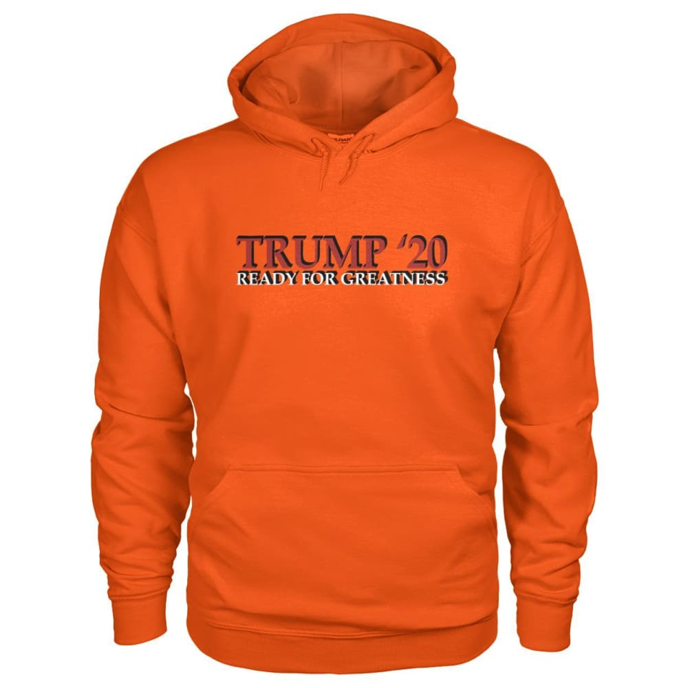 Trump Greatness 2020 Hoodie - Orange / S - Hoodies