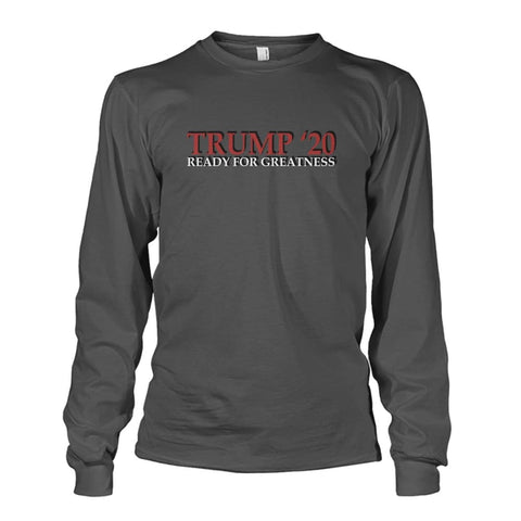 Image of Trump Greatness 2020 Long Sleeve - Charcoal / S - Long Sleeves