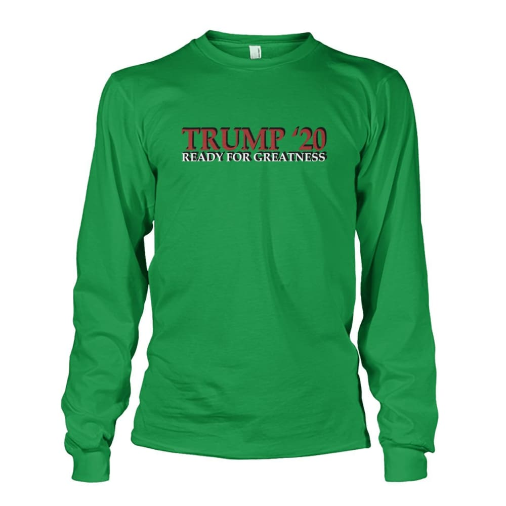 Trump Greatness 2020 Long Sleeve - Irish Green / S - Long Sleeves