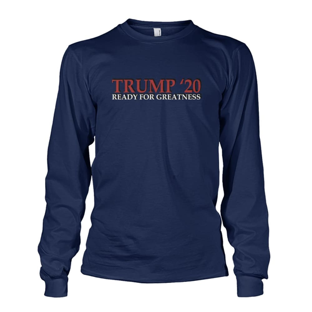 Trump Greatness 2020 Long Sleeve - Navy / S - Long Sleeves